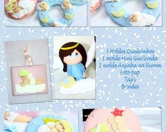 PDF Pattern Felt Baby Apostila Digital Coleção Anjos As Feltreiras