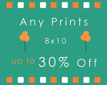 Discount 8x10 Print Set - 2 or more 8x10 photos of your choice up to 30% discount - Save upto 30 percent off 2 or more 8x10 prints