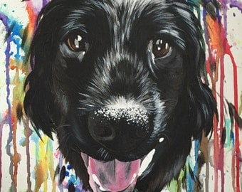CUSTOM Pet/Animal Portrait Painting ACRYLIC