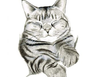 CUSTOM Pet/Animal portrait WATERCOLOUR
