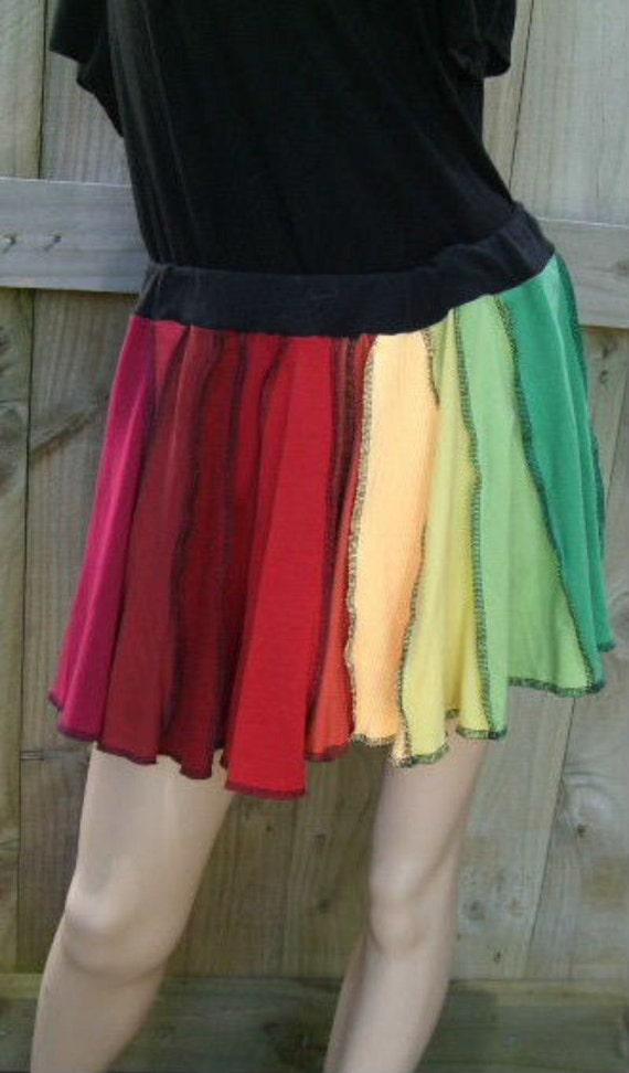 Rainbow Upcycled Skirt