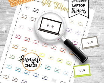 Laptop Planner Stickers, Laptop Stickers, Printable Planner Stickers, Agenda Laptop Stickers, Printable Stickers