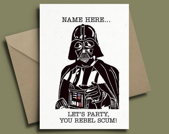 Star Wars Darth Vader Personalised Birthday Card