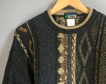 Patterned Vintage Grandpa Sweater