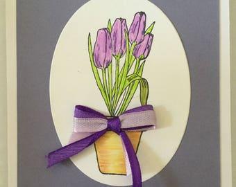 Spring Purple Tulip Card