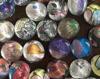 Art Magnets, set of 6