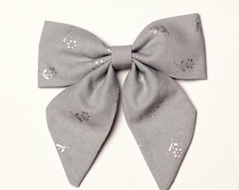 Gray Sailor Bow