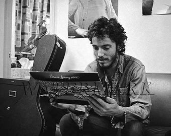 Bruce Springsteen - Bruce Springsteen Art - Bruce Springsteen Poster - The Boss - E Street Band - Rock and Roll - 8x10 - 11x14 (JS1129)