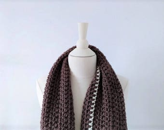 READY to ship 50% Off. Ivory, hot and long tweed scarf. Handmade by Mae