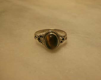 925 Sterling silver ring with Tiger eye stone