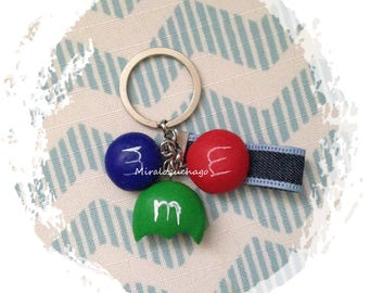M & M's Keychain polymer clay