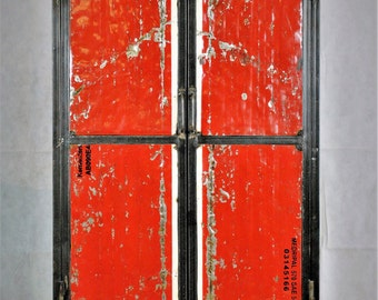 Reclaimed Oil Drum Lockers Silver or Red and White
