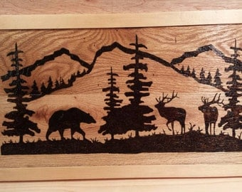 Wooden burnt picture