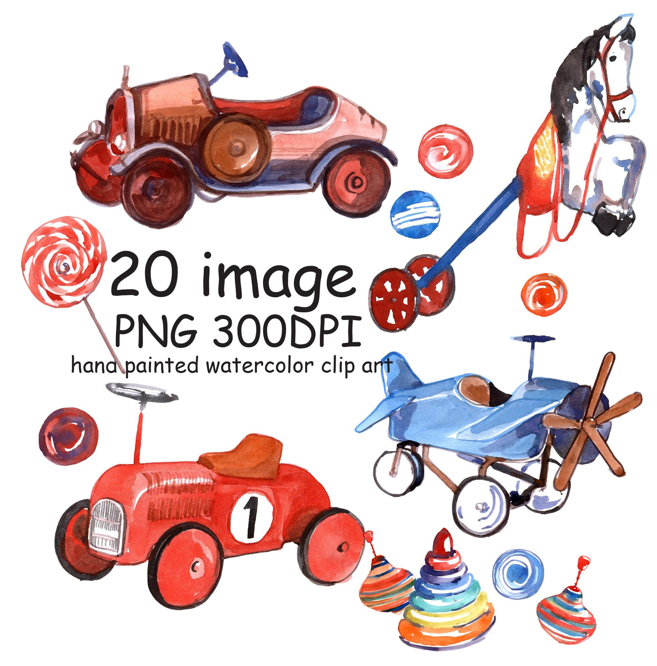 SALE 50% Toys clipart kids clipart Retro toys vintage toys