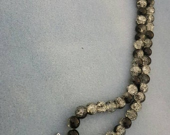Love monochrome beaded necklace