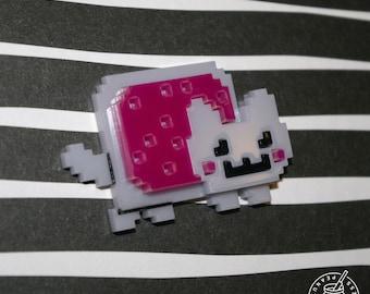Nyan Cat - Pin badge, magnet , cat pin, cat art
