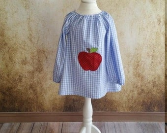 Blue vichy Apple Red tunic