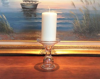 PILLAR CANDLE HOLDER, Glass Candle Holder, Candleholder, Clear Candle Holder, Wedding Sweatheart Table Decor, Wedding Table Decor