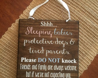 Shhh... Sleeping baby sign