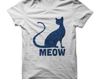 BLUE CAT T-SHIRT.Cat t-shirt.Blue Cat T-shirt. Cat tee.Cat lovers t-shirt.Cat gift for cat lover.
