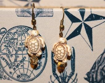 Coastal Turtle Earrings