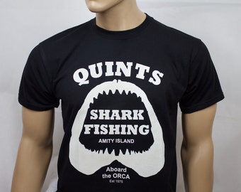 Jaws inspired Quints Shark Fishing t-shirt