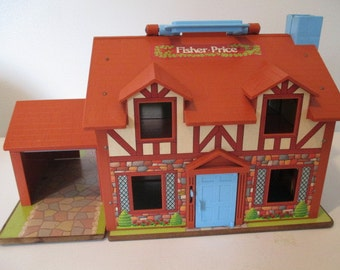 Vintage 1970's Fisher Price Little People Play Family House #952