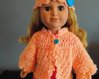 Peach Sweater & Hat Set