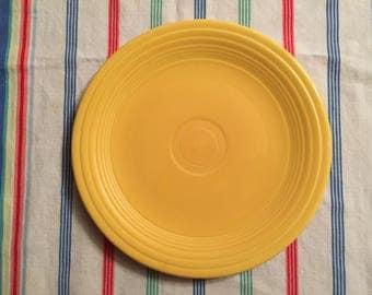 "Vintage Fiesta Ware Original Yellow 9.5"" plate"