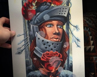 Lady knight print Blackmagicjake