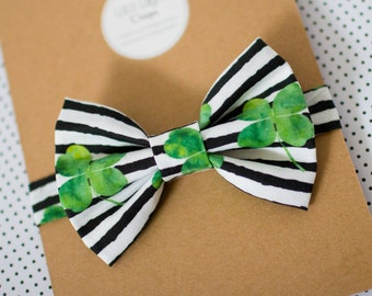 Shamrock Bowtie on Adjustable Strap