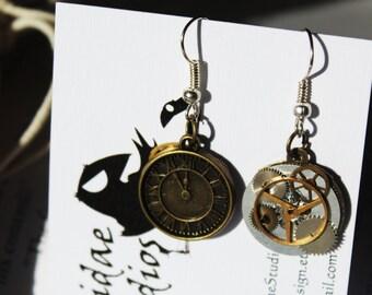 Steampunk Time Earrings