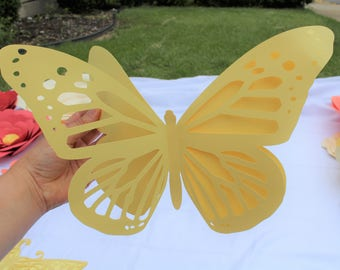 Butterfly, Paper Butterfly, 3D Butterly, Intricate Butterfly, Nursery Decor Butterfly, Wall Decor Butterfly, Girls Room Butterfly