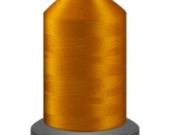 marigold thread, glide trilobal polyester no 40, Tex 27, sewing thread, quilting thread, 1000m cone