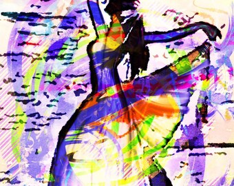 The Dance of Life Print of Original Painting Ivelina Georgieva