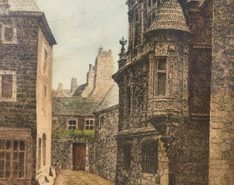 The gravure ''The old town'' 1926