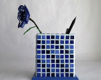 Mosaic pencil pot