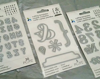 "3 pk Bundle Set by Momenta : Set of 3 Cut and Emboss Dies by Momenta ""ABCs & 123s"" CLEARANCE!"