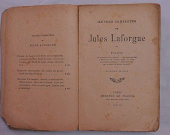 Book / poems / works complete / Jules Lafrogue / Eighth Edition / year 1917 / free shipping