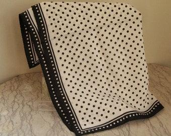 vintage polka dot scarf