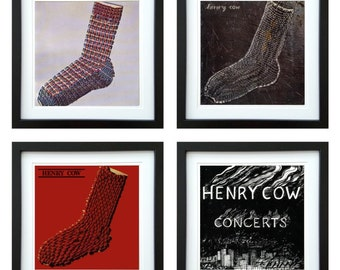 Henry Cow - Framed Album Art - Set of 4 Images