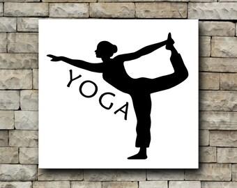 Yoga stretch vinyl decal