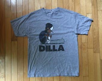 J. Dilla 'linus' t-shirt medium vintage hip hop rap underground  backpack jay dee mf doom madvillain dilla donuts peanuts