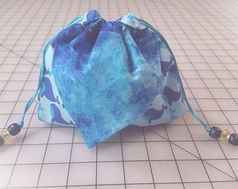 Three Pocket Origami Bag - Whale Waves