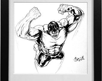 Hulk Ink Drawing