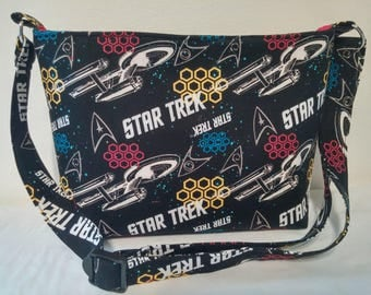 STAR TREK Zippered Purse/ Adjustable strap
