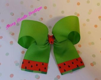 Watermelo hair bow, Watermelon hair clip,Watermelon hairbow, Watermelon outfit, Watermelon headband, Watermelon clothes, Watermelon bow