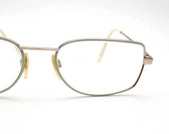 Light Turquoise Aqua Licefa Boutique Royal Germany Eyeglasses Vintage 70s Glasses Frames Eyewear Nerd Hipster Eye Metal Glasses Oversized