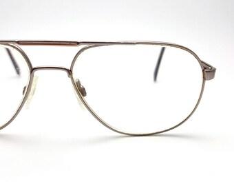 Sutton Aviator Eyeglasses Vintage from the 80s Metal Glasses Frames Eyewear Nerd Hipster Eye Glasses Oversized Glasses