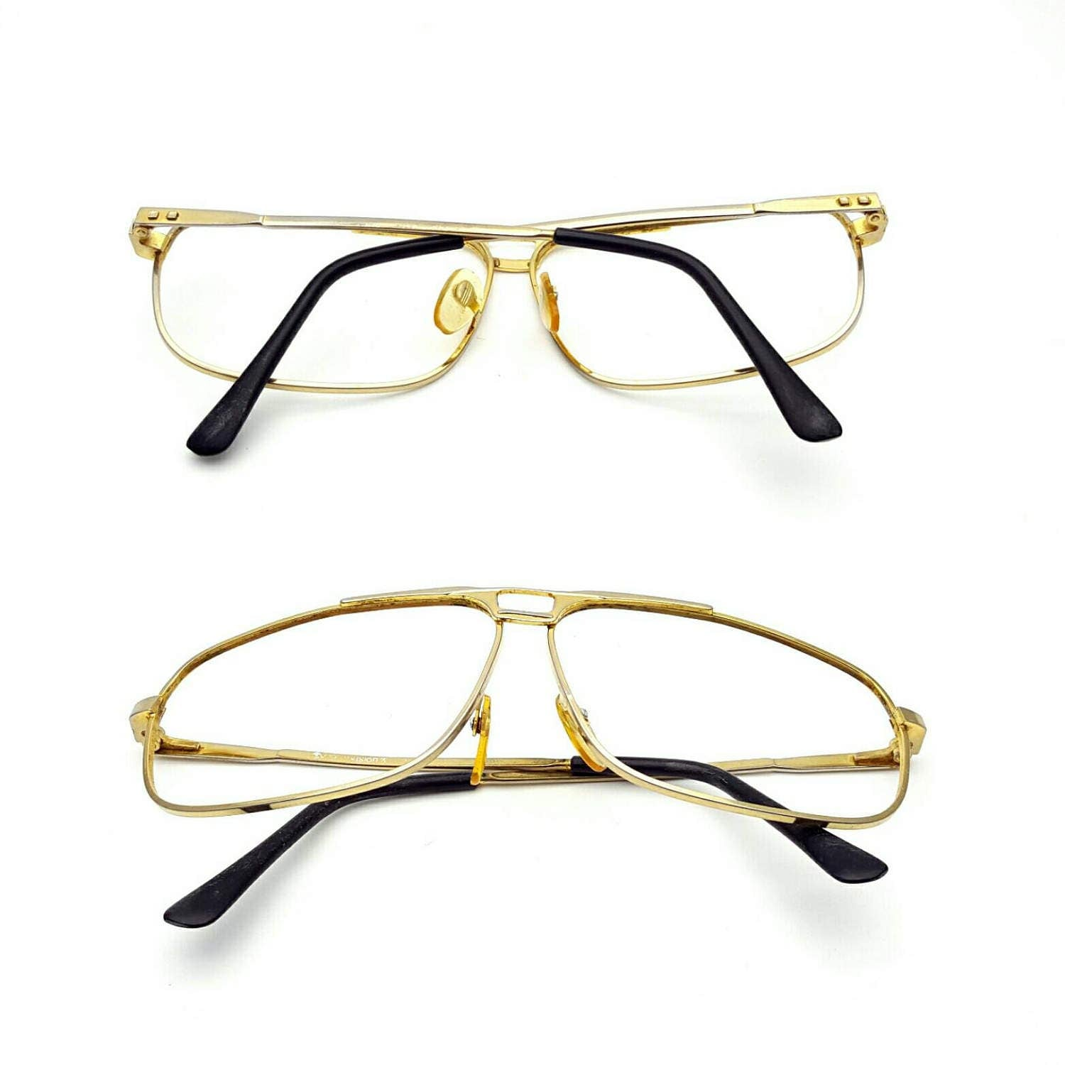 Aviator Gold Tone Metal Frames Only Eyeglasses Vintage from the 70s ...